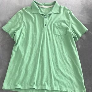 Banana Republic Vintage Wash Green Polo